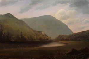 Lauren Sansaricq _Saco Lake in Crawford Notch _12x18in. oil on pane web l