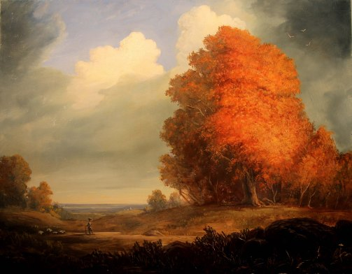 Lauren Sansaricq_Scene of Autumn _ 14x18in. _3500_Oil on panel web