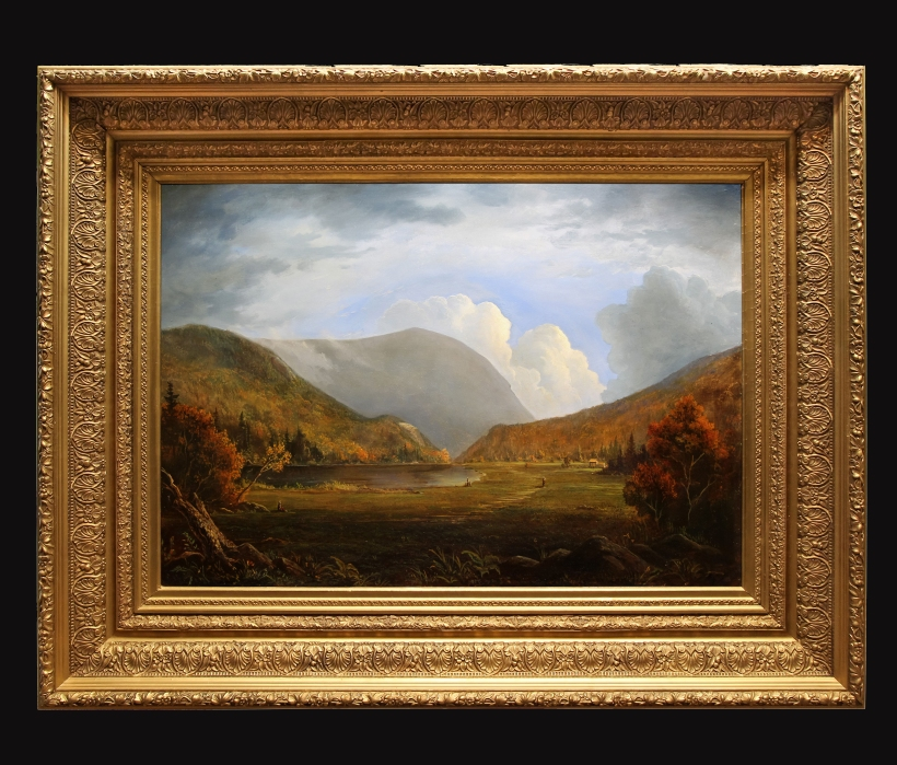 RTCrawford Notch Framed Black background _ Lauren Sansaricq_ Oil on Canvas-2