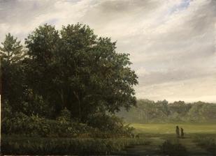 Walk in the Meadow_ 4 x 8 oil on panel