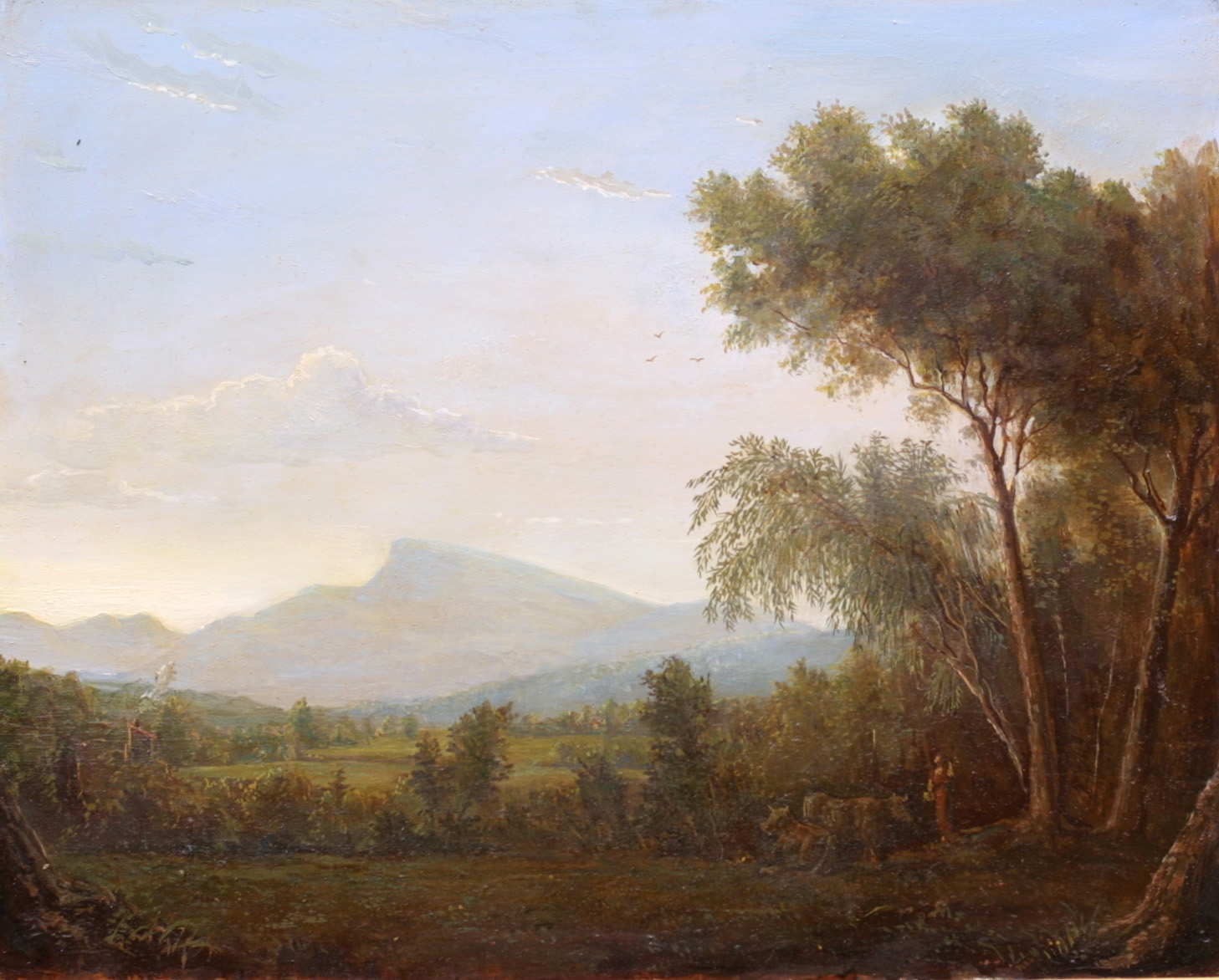 The figure in traditional landscape painting for Traditional landscape