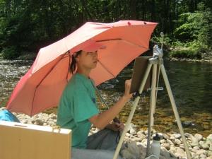 Erik Koeppel _White Mountain Art Workshop_ 2 happy students