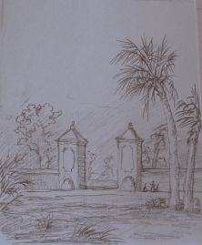 drawing of the gate of saint augutine