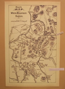 Historic map of the white mountain region