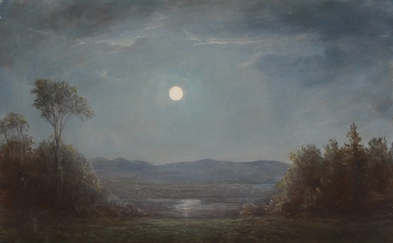 Lauren Sansaricq_moonlight in the hudson valley_7x11in. oil on panel
