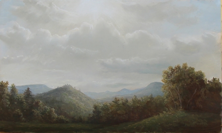 Lauren Sansaricq_sun breaking through the clouds_5x8in. _oil on panel_2013
