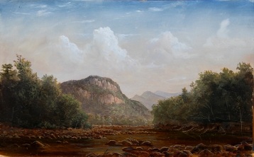laurenSansaricq_FrankenstienCliffsCrawfordNotch_oil on panel 2013