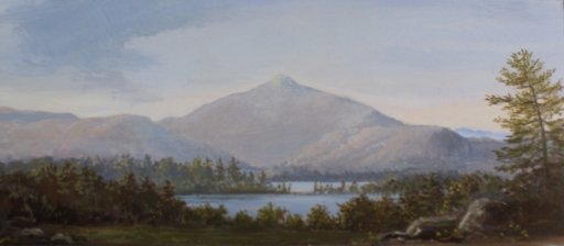 smaller mt. chocorua_5x12in._oil on panel