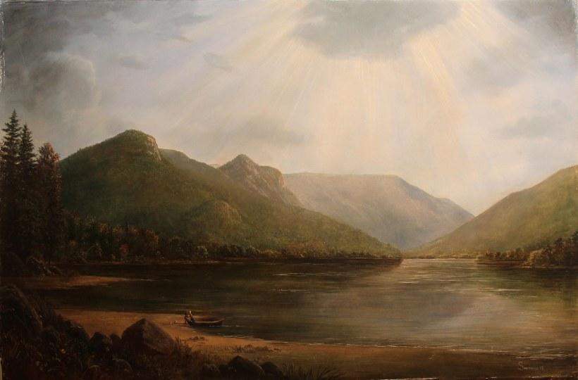 Lauren Sansaricq_Echo Lake in Franconia Notch _24x36in. oil on canvas web