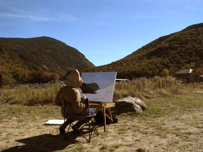 Lauren Sansaricq Painting in Crawford Notch