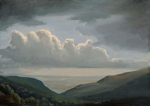 Lauren Sansaricq Clouds Passing in the Catskills 5 x7 in. Oil on panel web