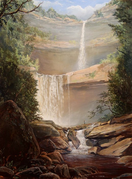 Lauren Sansaricq Kaaterskill Falls 16 x 12 inches Oil on panel web