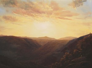 Lauren Sansaricq Sunset at Inspiration Point 12 x 18 in. Oil on panel web