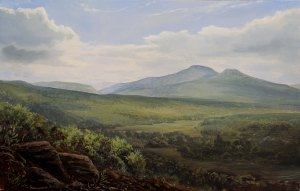 Lauren Sansaricq View from Tip Top of Roundtop and High Peak 9 x 14 inches Oil on panel web