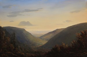 Lauren Sansaricq View from Twilight Park at Sunset 12 x 18 in. Oil on panel web