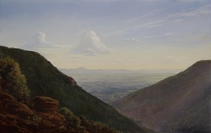 Lauren Sansaricq View of the Kaaterskill Clove 9 x 14 in. Oil on panel web