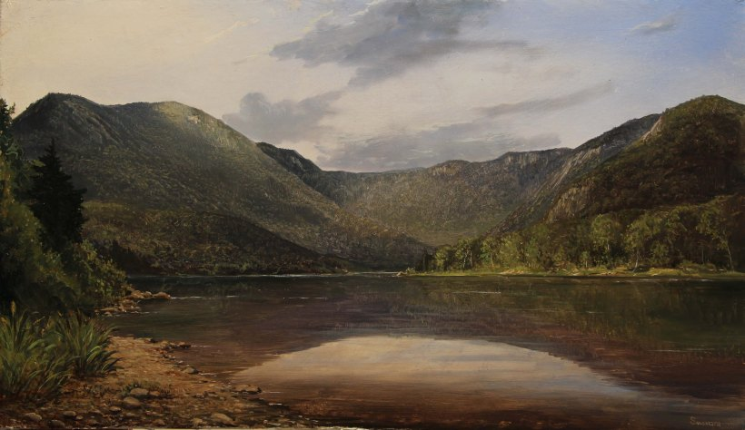 Lauren Sansaricq_The Basin in Evans Notch_14x24in._oil on canvas_Web