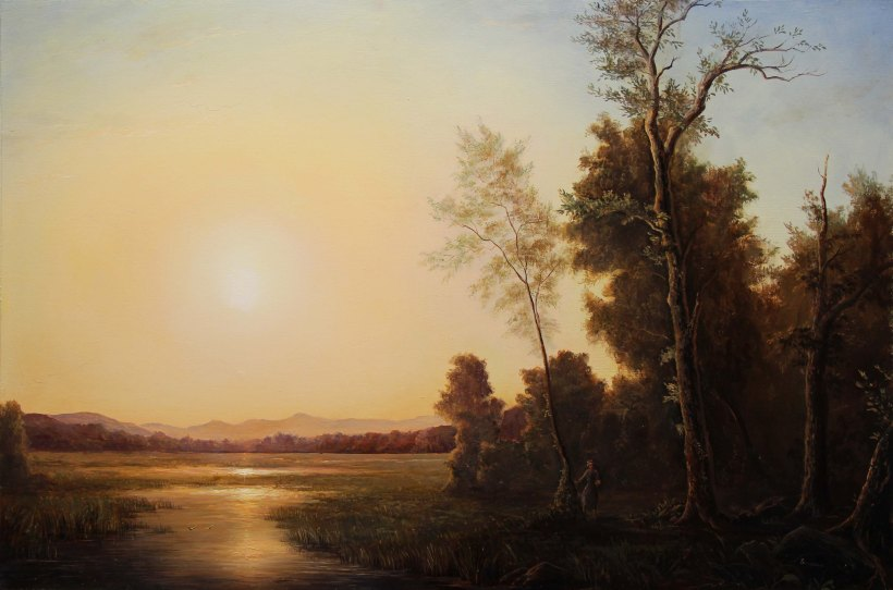 Scene of Sunrise_Lauren Sansaricq_24x36in._oil on pane_webl