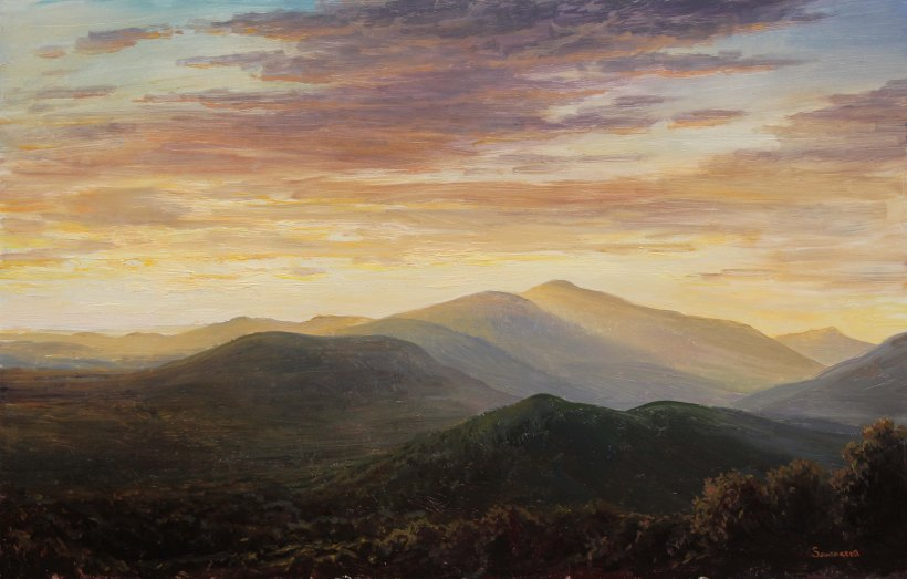 Lauren Sansaricq _View of Mount Washington at Sunset_9 x 14 in_WEB