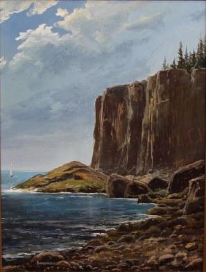 Otter Cliffs Mount Acadia Maine- 9 x 12 in