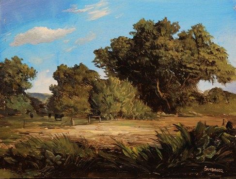 Lauren Sansaricq_Pastoral Scene with cows_6x8in_WEB