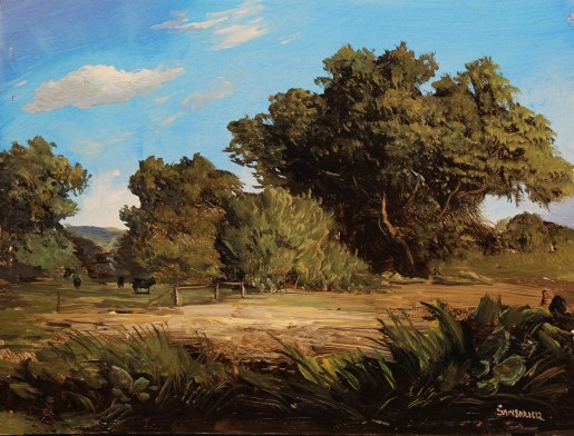 Pastoral Scene with Cows – 6 x 8 in.