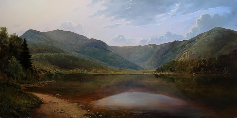 Lauren Sansaricq_The Basin Evans Notch_most recent_web_24x48in. oil on panel