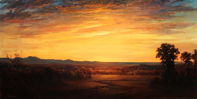 Lauren Sansaricq_The Catskills at Sunset_12x24in. oil on panel_WEB