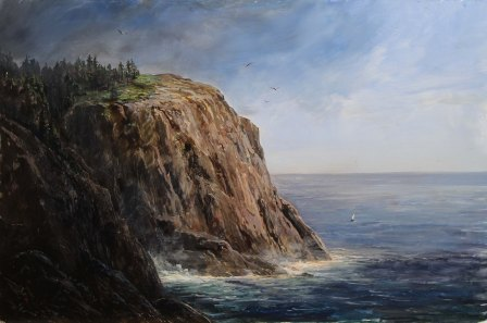 Lauren Sansaricq_View of Blackhead on Monheagan Island Maine_12 x 18in_WEb