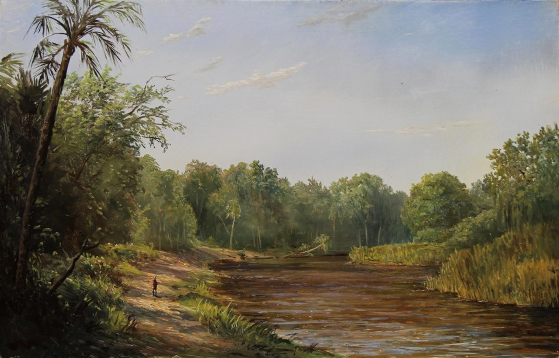 Afternoon on the Myakka River Florida- 9x14in.
