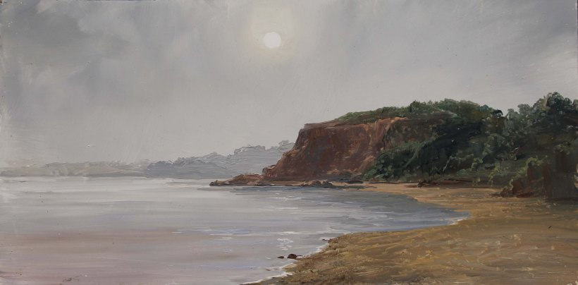 Mist Rising at Halfmoon Bay_6 x 12in. WEB