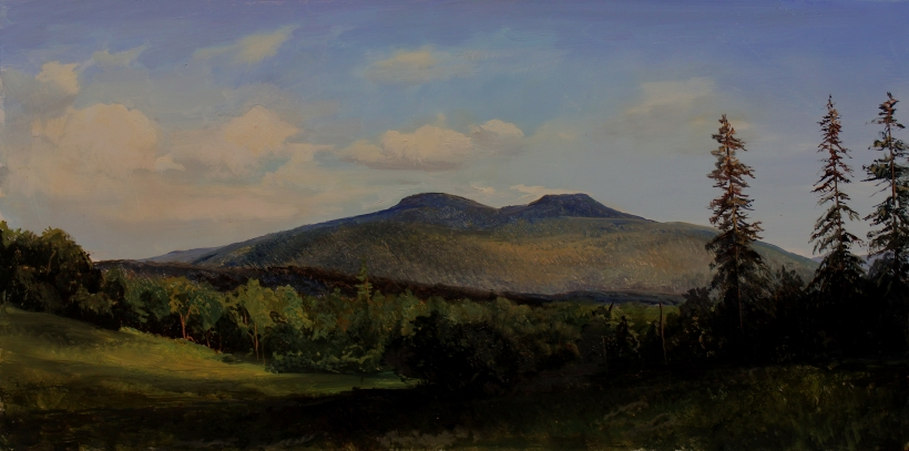 High Peak and Roundtop Mountains_ 9x18in