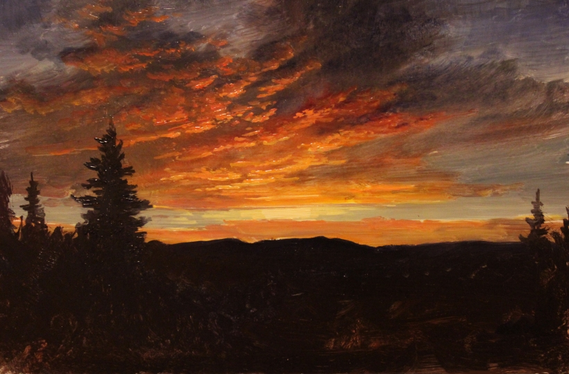 Sunset in the Catskill Mountains_9x6in