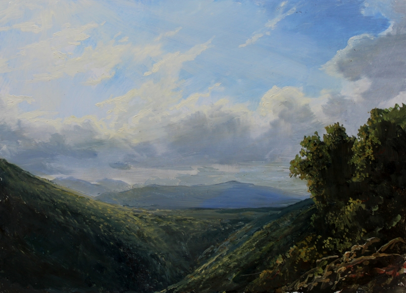 View of the Kaaterskill Clove_8x11in._oil on panel